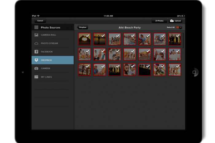 Linea wants to simplify the process of organizing and sharing photos through its linear slideshow app