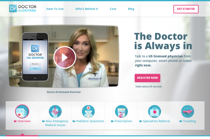 Doctor on Demand is combating ER overload by enabling video consultations with qualified doctors on mobile devices