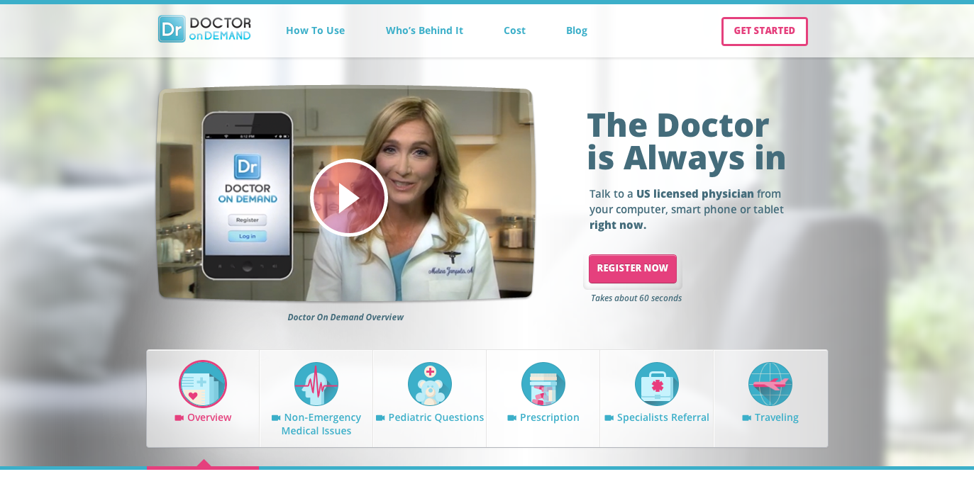 DoctoronDemand screenshot