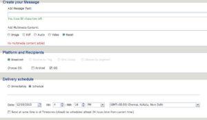 WebMobi dashboard
