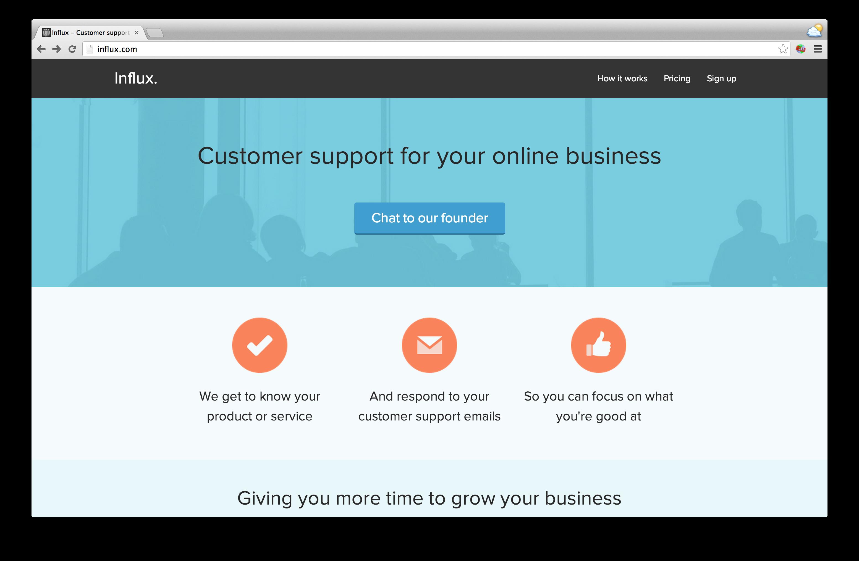 Influx.com screenshot