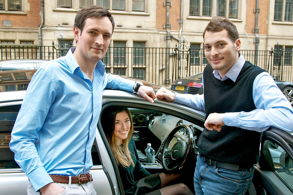 carwow founders James Hind, Alexandra Margolis and David Santoro. Photo courtesy of carwow.