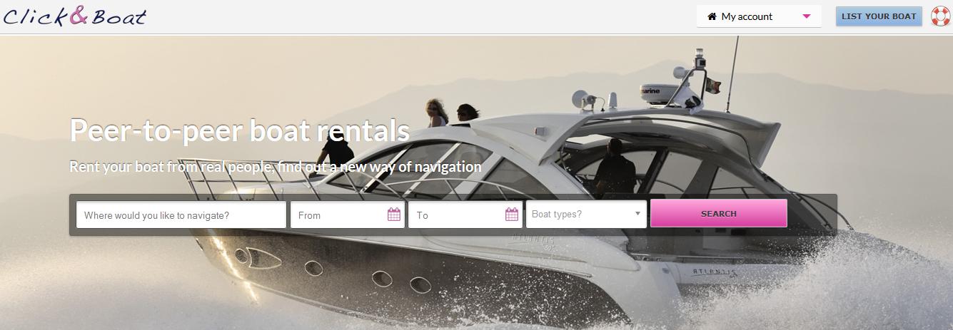 ClickandBoat Homepage