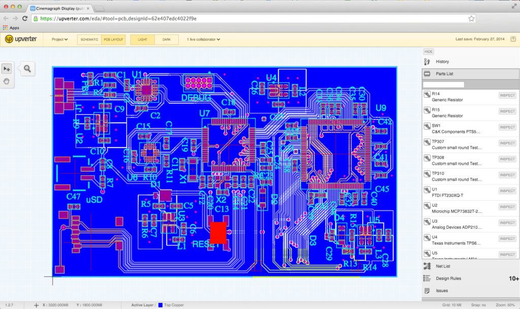 Upverter pcb_layout_light