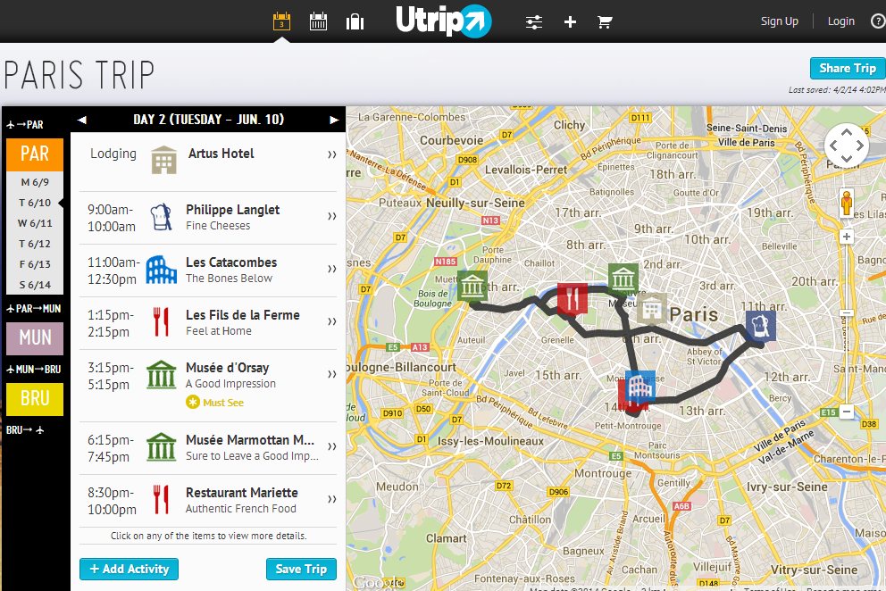 Utrip launches its AIbased trip planner out of beta with 750K in – Europe Travel Planner Map