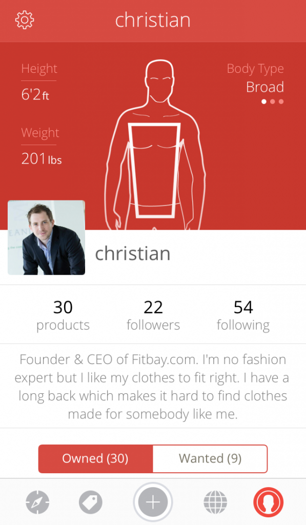 Fitbay Profile (Male)
