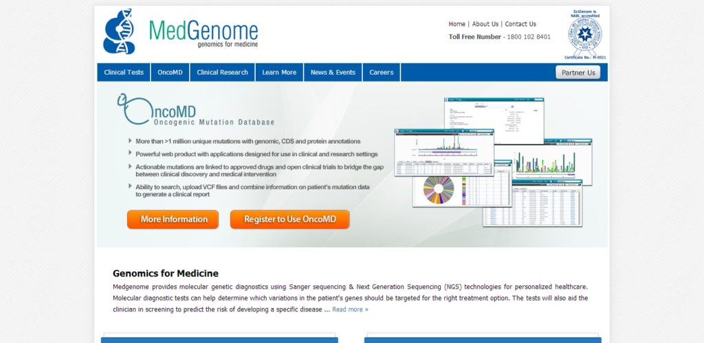 MedGenome screenshot