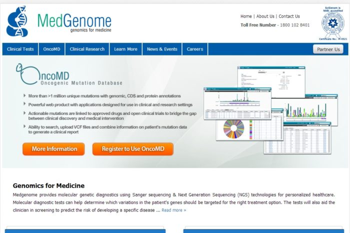 MedGenome closes a $4M Series A round to expand its cancer-focused genetic database