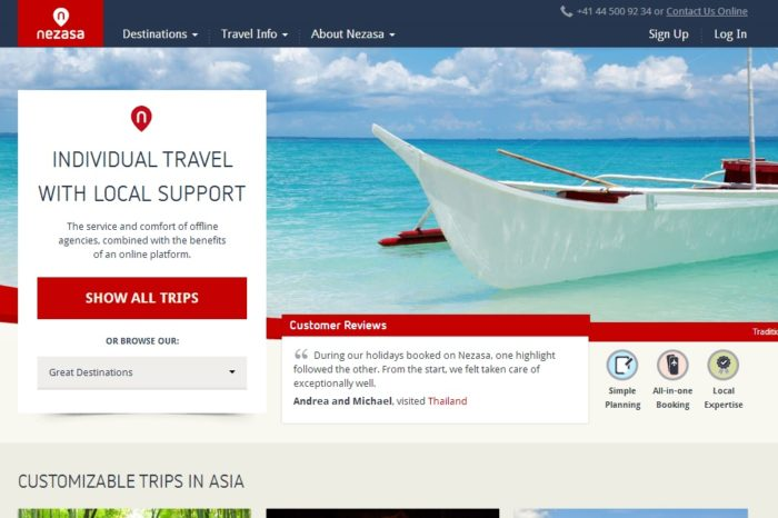 Nezasa raises $800K in new Seed funding to compete in the personalized travel business