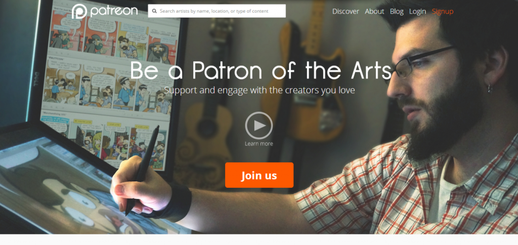 Patreon screenshot