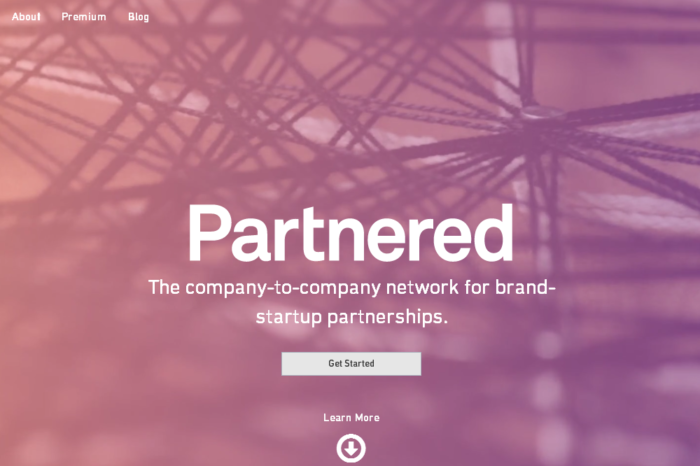 Partnered lands $1.6M to facilitate connections between startups and established brands