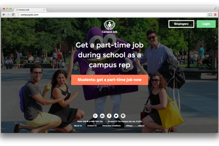 Campus Job's employment marketplace connects businesses with college students for more exciting part-time jobs