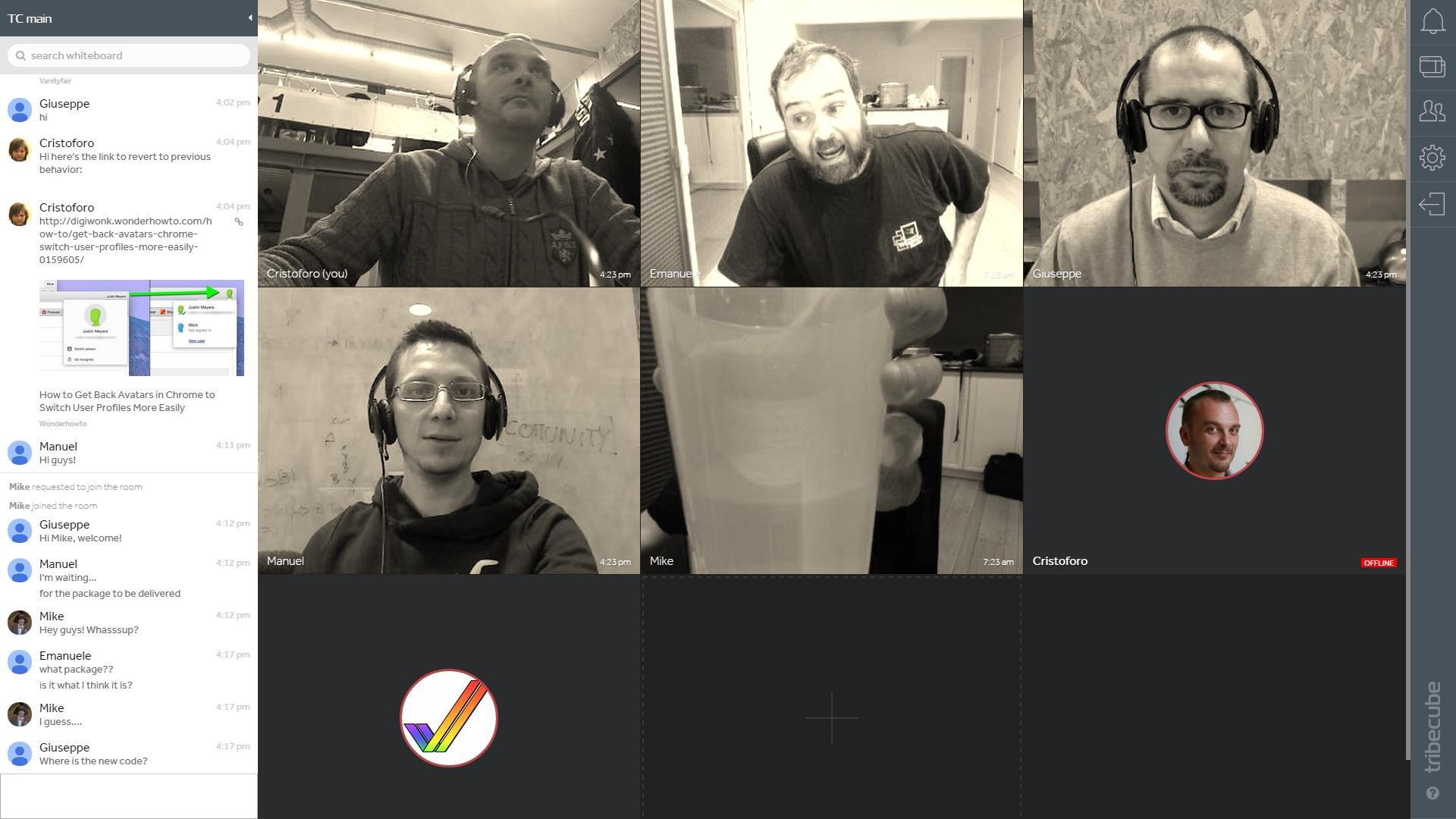 Tribecube snapshot_app-peopleview