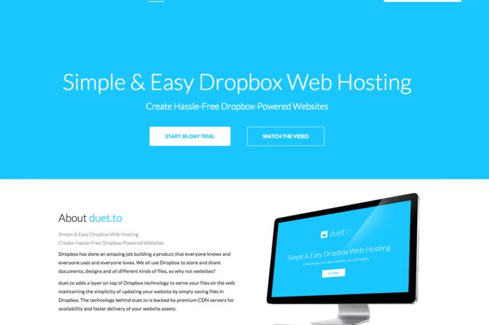 Lightning Pitch: duet.to – Dropbox-powered web hosting