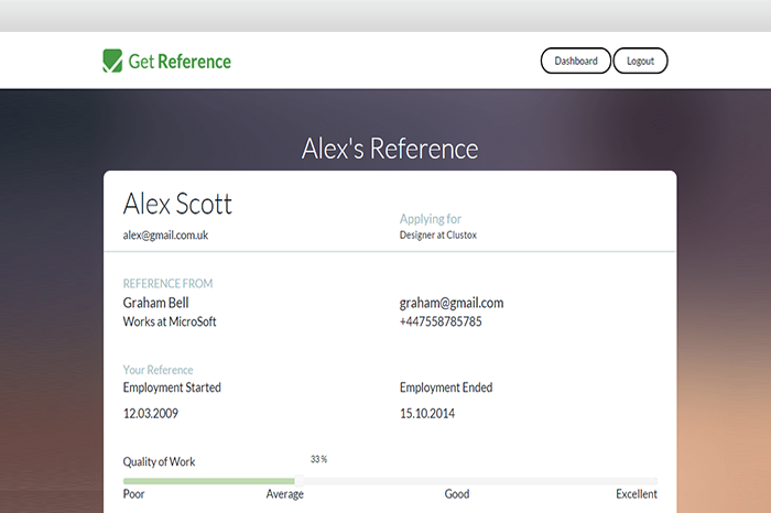 Lightning Pitch: Get Reference – Paperless employment references