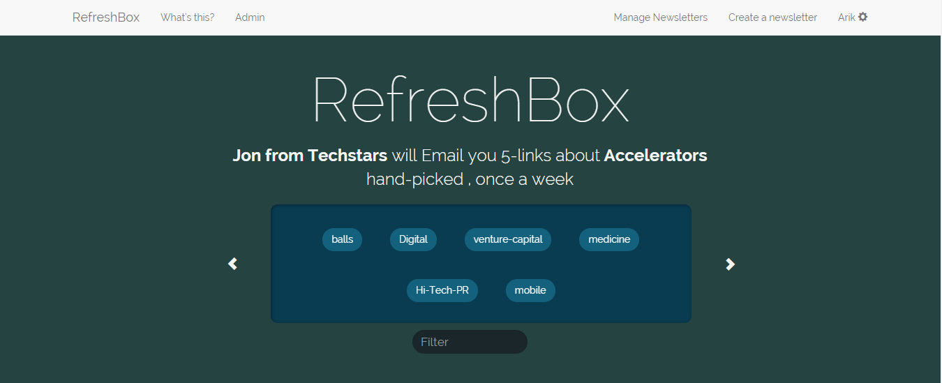 RefreshBox home-page