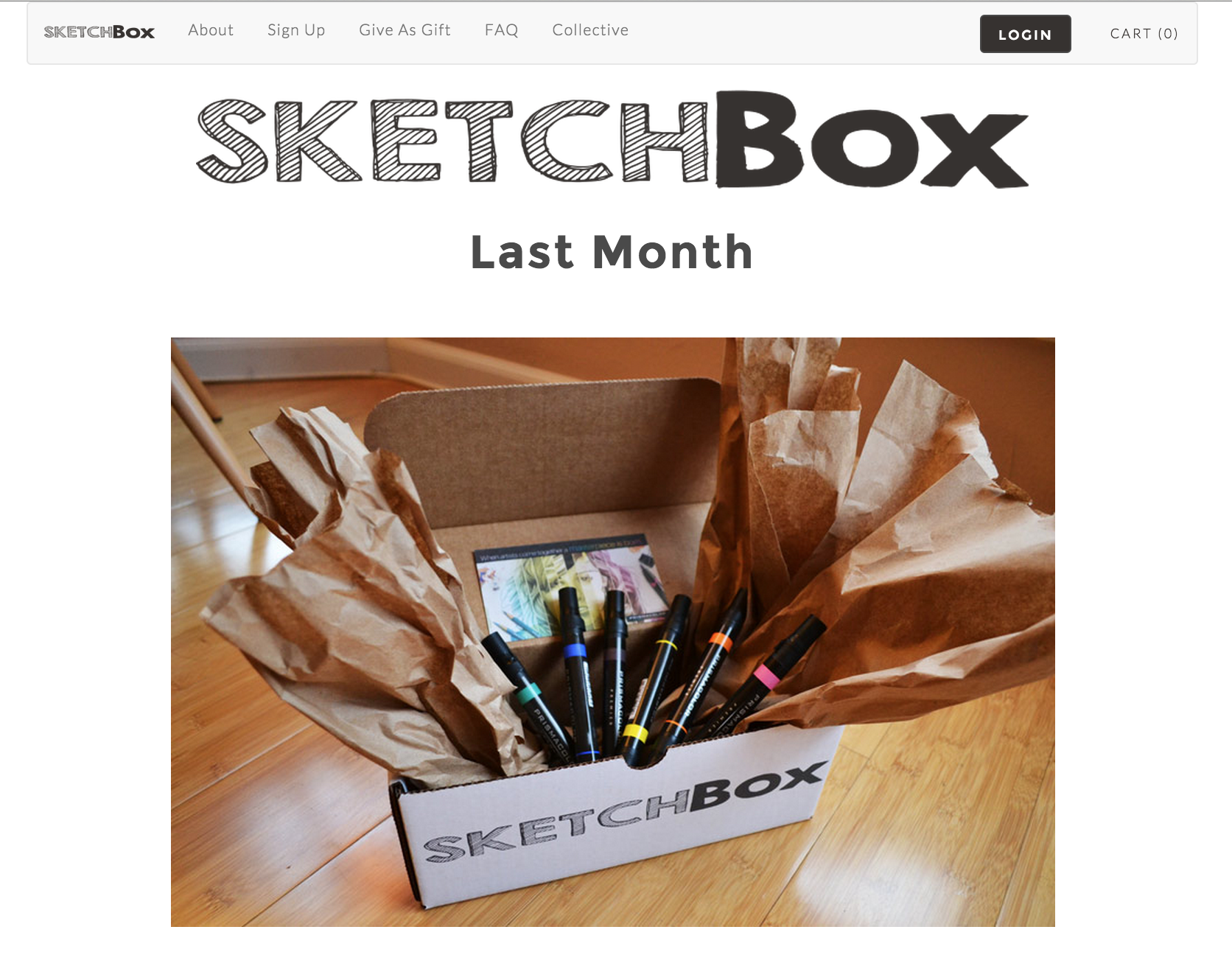Lightning Pitch Sketchbox Monthly Subscription Box For