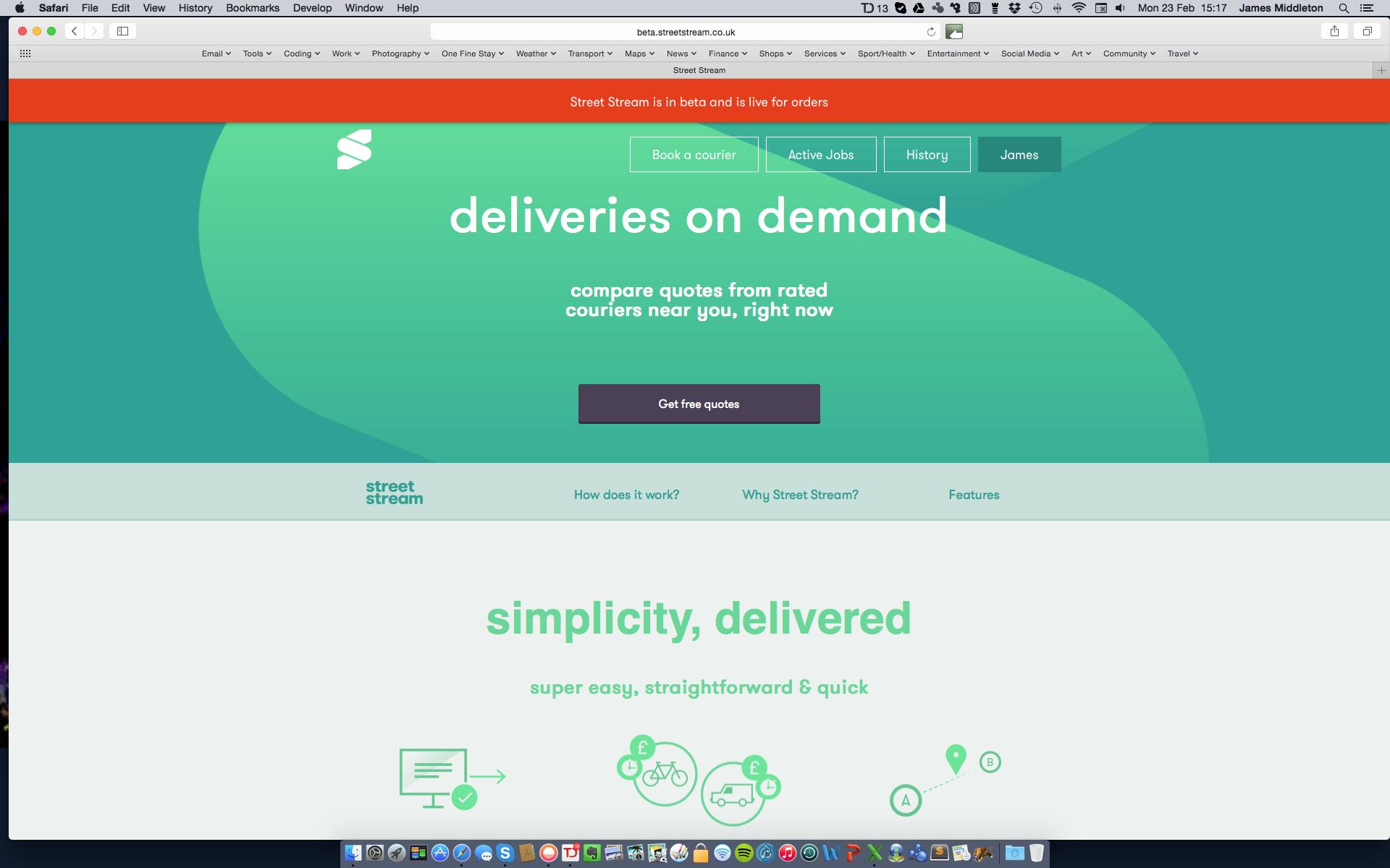 StreetStream homepage