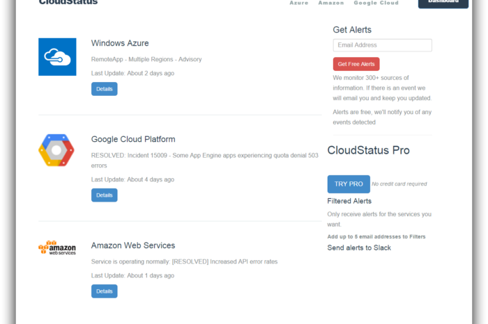 Lightning Pitch: CloudStatus – Monitoring cloud infrastructure