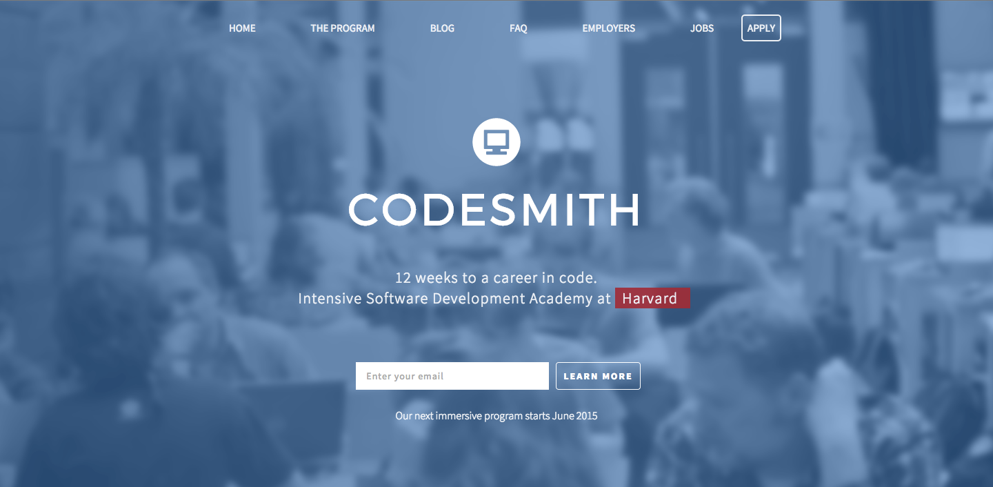 Lightning Pitch: Codesmith – Immersive software engineering academy