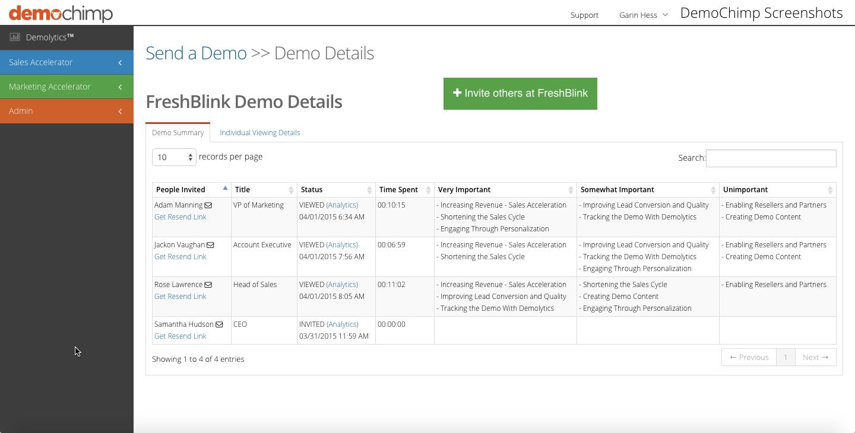 DemoChimp screenshot2