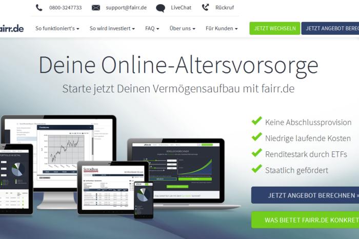 Lightning Pitch: fairr.de – Private pension products