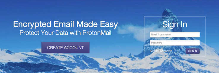 ProtonMail screen-shot