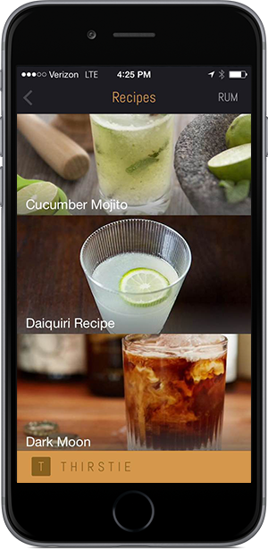 Thirstie iPhone 6 Recipes
