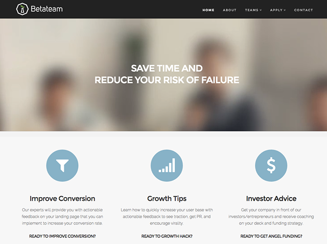 Betateam screenshot