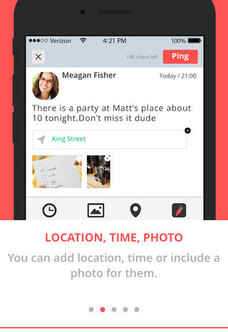 Lightning Pitch: Ping – Send/receive reminders with friends, loved ones and co-workers