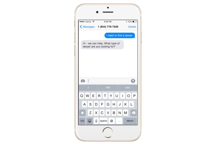 Lightning Pitch: RSVP Law – Text to find a lawyer