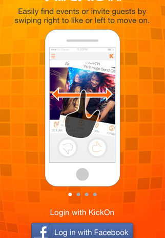 Featured Startup Pitch: KickOn – The Tinder for private parties and events