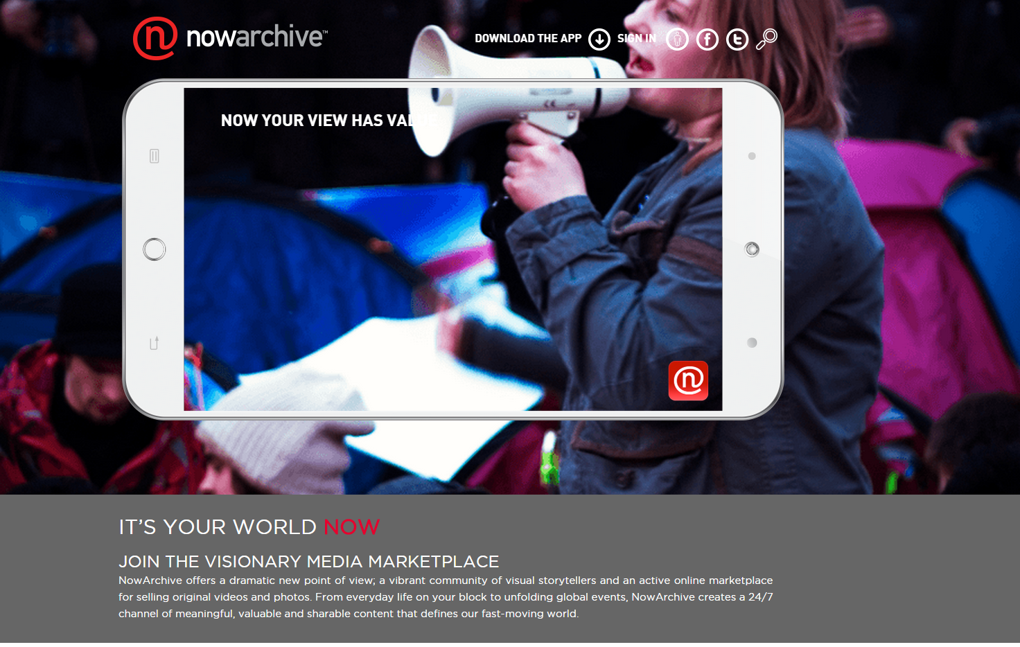 NowArchive-landing-page