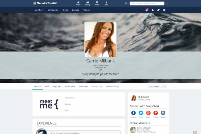 SalaryShark.com officially launches its professional social network with over 1 million members worldwide