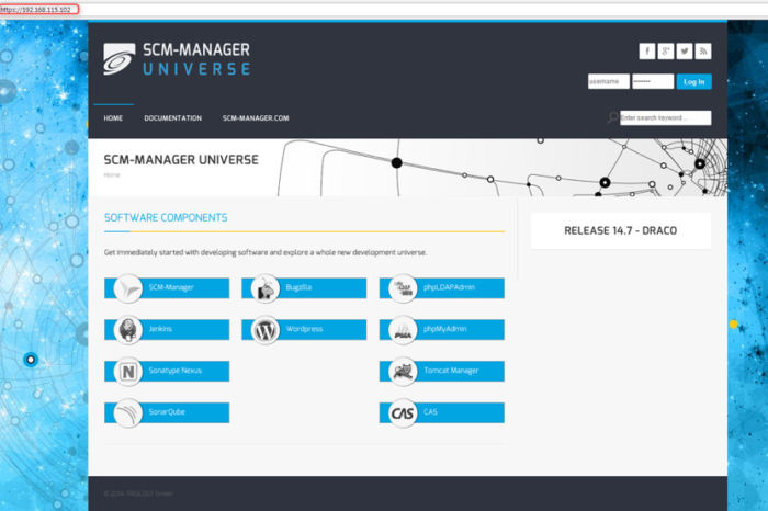 Lightning Pitch: SCM-Manager Universe – Explore a whole software development universe