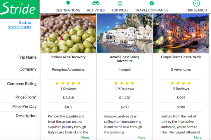 Lightning Pitch: Stride Travel – Metasearch marketplace for guided trips and travel packages