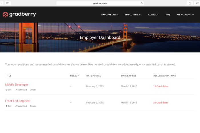 Lightning Pitch: Gradberry – Curated technical talent via code analysis