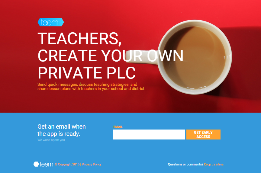 Lightning Pitch: teem – Chat app for teacher teams and