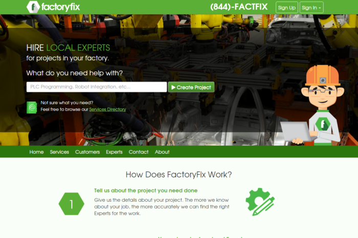 Featured Startup Pitch: FactoryFix – Local experts for factory automation projects