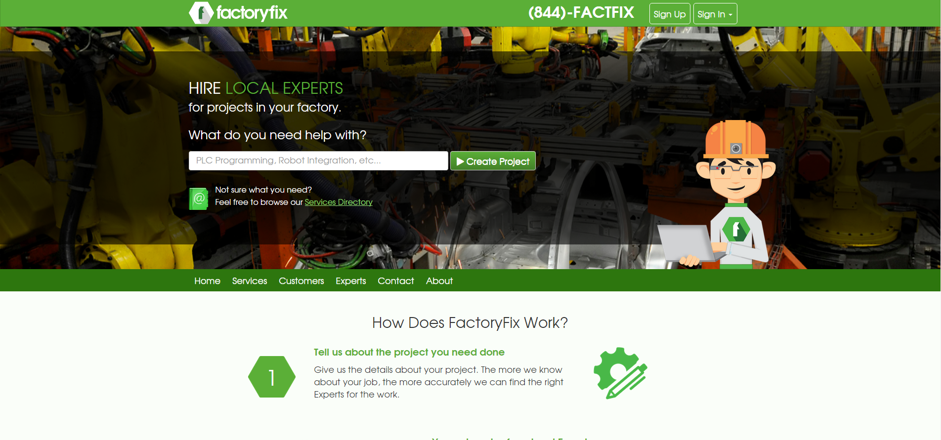 FactoryFix screen