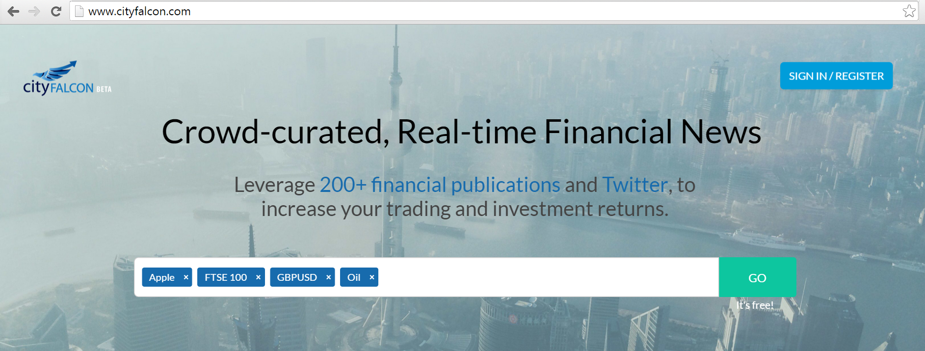 Featured Startup Pitch: CityFALCON - Making financial news and analysis more widely available
