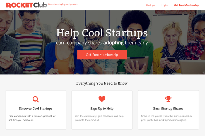 Featured Startup Pitch: RocketClub - Helping startups build early adopter support