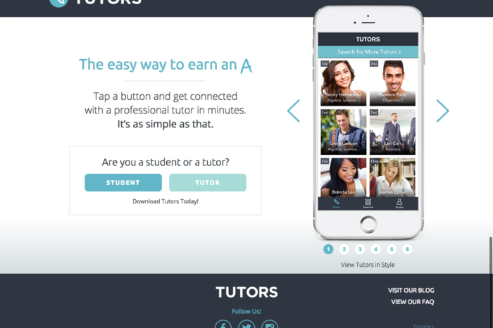 Featured Startup Pitch: Tutors App – Connecting students with nearby tutors for on-the-fly sessions