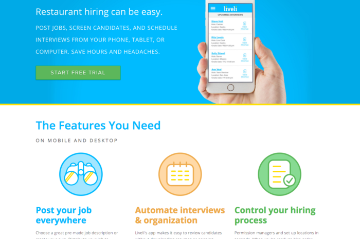 Featured Startup Pitch: Liveli - Organizes the entire recruitment process for SMBs