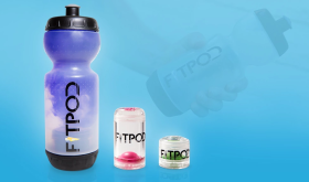 FitPod partners with CleanBottle™ to create first reusable water bottle with cartridges