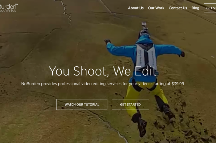 NoBurden unveils new service for action camera video editing