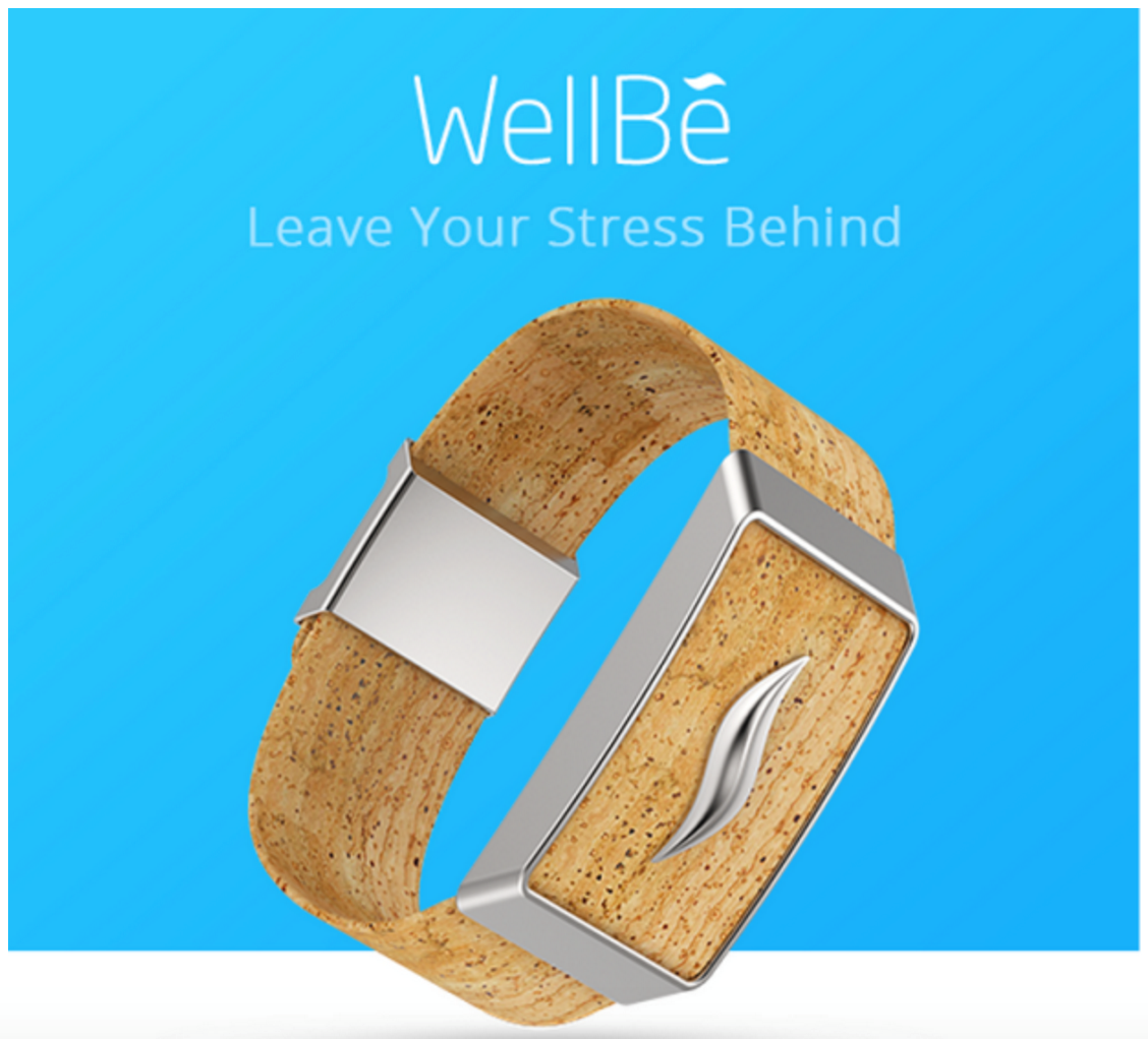 The world's first stress therapy bracelet: The WellBeTM kickstarts a calmer, healthier life