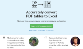 Lightning Pitch: PDF Tables – Effortlessly convert PDF tables into Excel spreadsheets