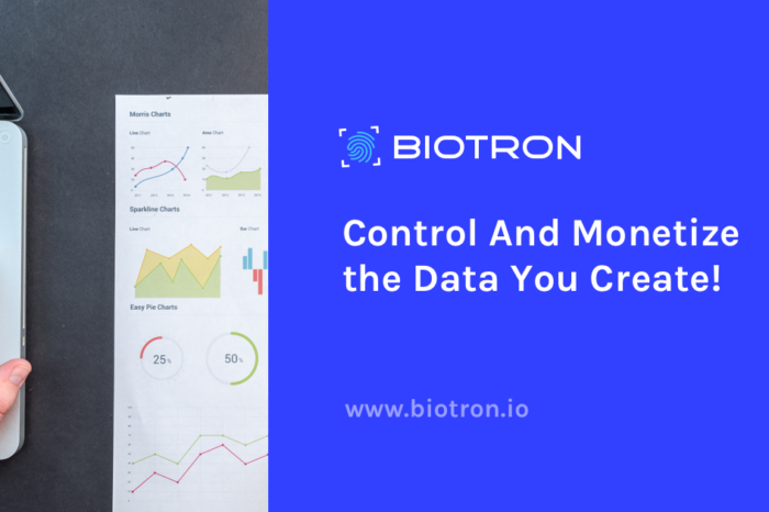 Biotron.io To Hold Initial Token Event On March 27th To Raise Funds For Its Fully Transparent Personal Data Analytics Platform