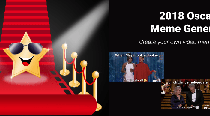 New tool to help you create and share memes so the Oscars fun continues